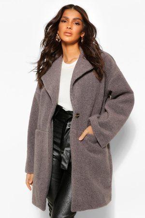 Boohoo Luxe Textured Wool Look Coat