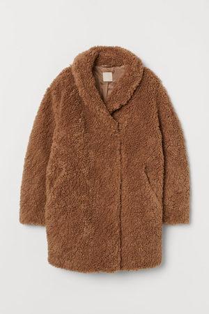H&M Mantel van teddy/imitatiebont