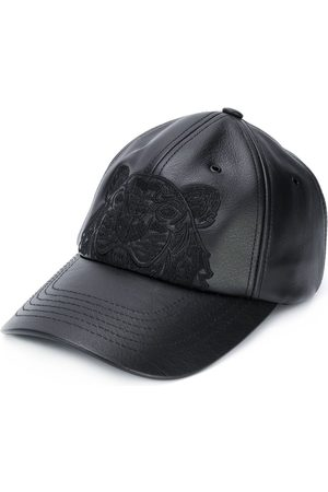 Kenzo Tiger motif leather cap