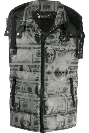 Philipp Plein SKull Dollar feather down vest