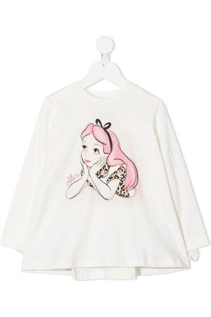 MONNALISA Alice-print ruffled sweatshirt