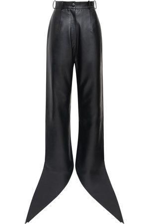 MATÉRIEL by Aleksandre Akhalkatsishvili Dames Leren broeken - Faux Leather Pants W/ Self-tie Cuffs