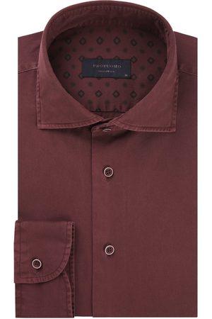 Profuomo Heren overhemd x cutaway sc sf burgundy Originale