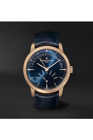 Vacheron Constantin Heren Horloges - Patrimony Retrograde Day-Date Automatic 42.5mm 18-Karat Pink Gold and Alligator Watch, Ref. No. 4000U/000R-B516