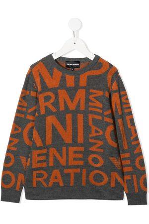 Emporio Armani Letter print jumper