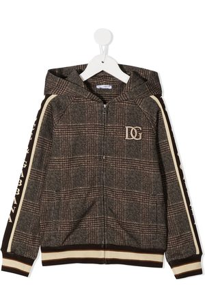 Dolce & Gabbana Check wool zip-up jacket