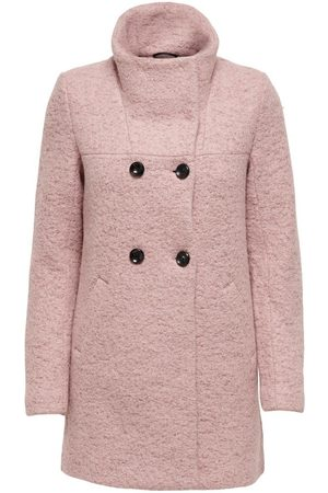 Only Wool Coat Dames Rood