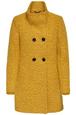 Only Wool Coat Dames Geel