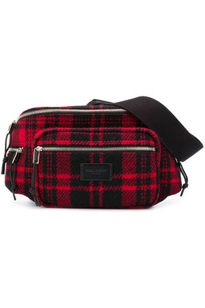 Saint Laurent Nuxx tartan belt bag