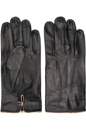 Paul Smith Heren Handschoenen - Striped trim leather gloves