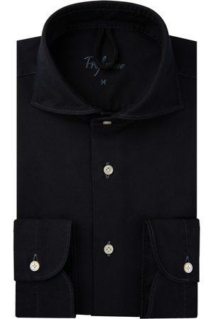 Profuomo Heren navy garment dye overhemd Sky Blue