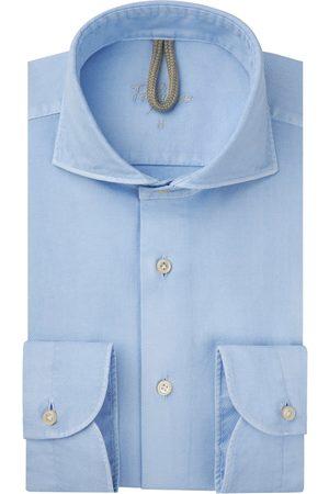 Profuomo Heren lichtblauw garment dye overhemd Sky Blue