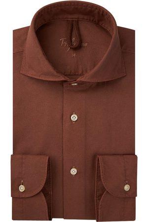Profuomo Heren Overhemden - Heren roest garment dye overhemd Sky Blue