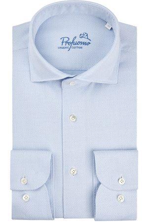 Profuomo Heren Overhemden - Heren dobby overhemd Sky Blue
