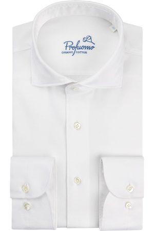 Profuomo Heren dobby overhemd Sky Blue