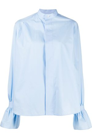 Ami Ruffled-cuff short shirt