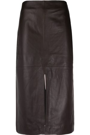 CO Leather pencil skirt