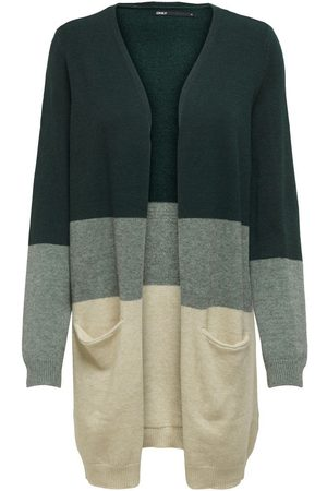 Only Long Knitted Cardigan Dames Green
