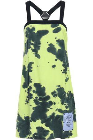 McQ Genesis Ii Tie Dyed Silk Mini Dress