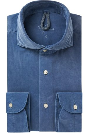 Profuomo Heren corduroy overhemd Sky Blue