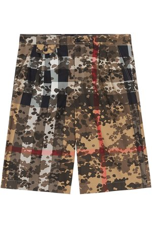 Burberry Camouflage Check tailored shorts