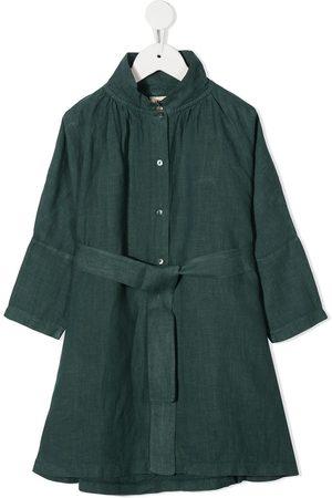 Longlivethequeen Belted linen shirt dress