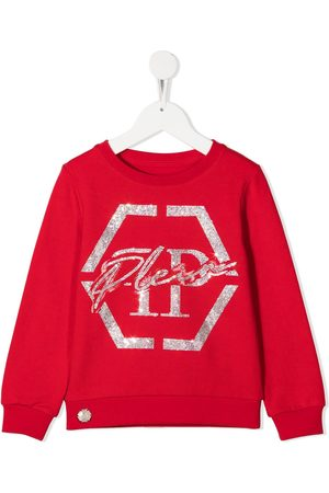 Philipp Plein Logo embellished crew neck sweatshirt