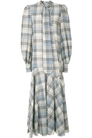 ALUF Check Laura long dress