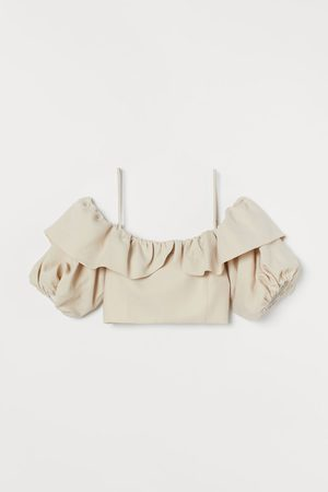 H&M Crop top met volant