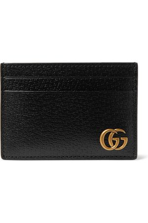 Gucci Heren Portemonnees - GG Marmont Full-Grain Leather Cardholder with Money Clip