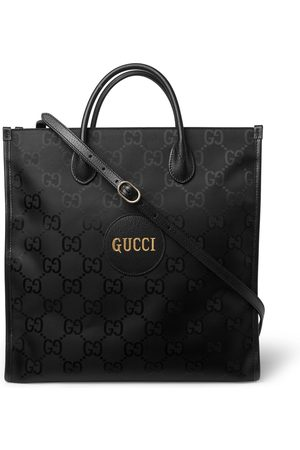 Gucci Off the Grid Leather-Trimmed Monogrammed ECONYL Canvas Tote Bag