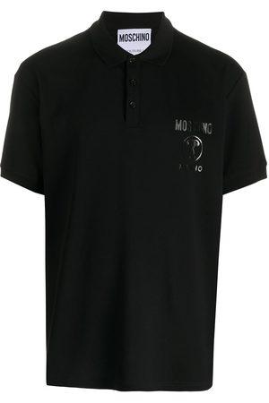 Moschino Double Question Mark print polo shirt