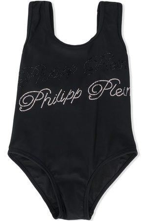 Philipp Plein Embellished signature swimsuit