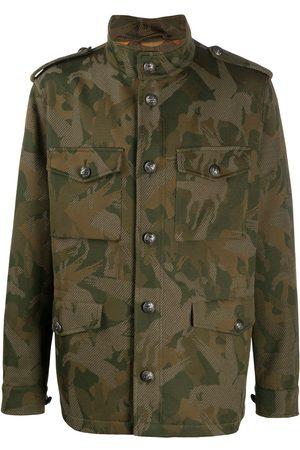 Etro Heren Leger jassen - Camouflage-print jacket