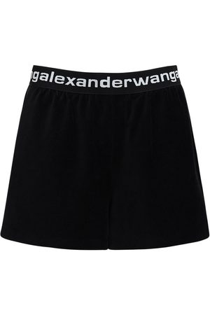 Alexander Wang Stretch Corduroy Shorts W/ Logo
