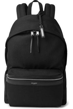 Saint Laurent Heren Portemonnees - Leather-Trimmed Canvas Backpack