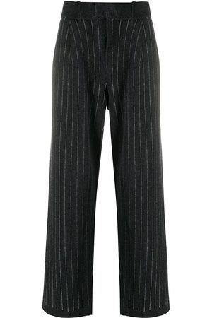 Barrie Pinstripe cashmere tailored trousers