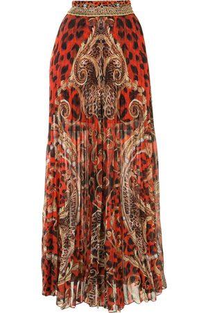 Camilla Long animal print skirt