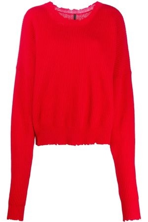 Unravel Project Distressed-edge ribbed jumper