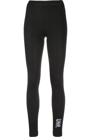 Unravel Project Logo-print cropped leggings
