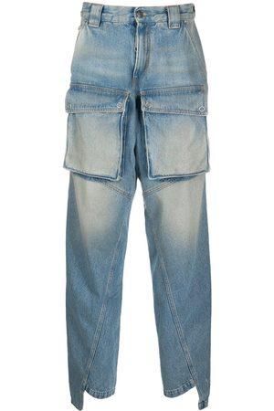 OFF-WHITE Multi-pocket straight-leg jeans