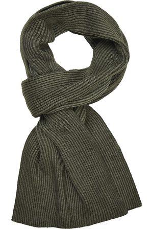 Profuomo Heren legergroen wol mix sjaal