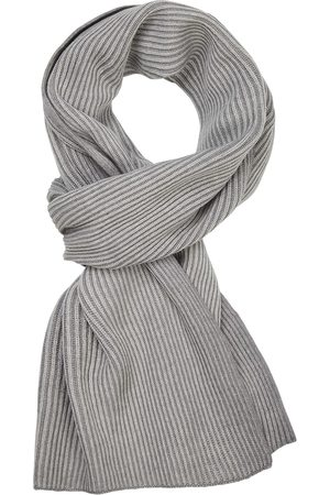 Profuomo Heren grijze wol mix sjaal