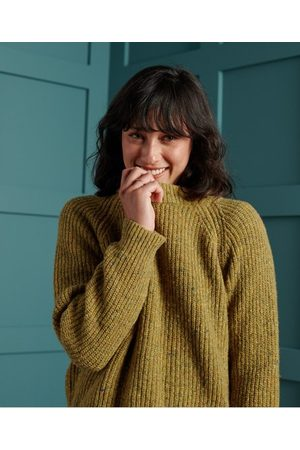 Superdry Freya trui van tweed met ronde hals