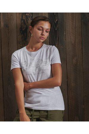 Superdry Tonal T-shirt met Vintage logo en satijn