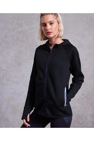 Superdry Dames Hoodies - Core Gym Tech hoodie met rits en inzetstukken