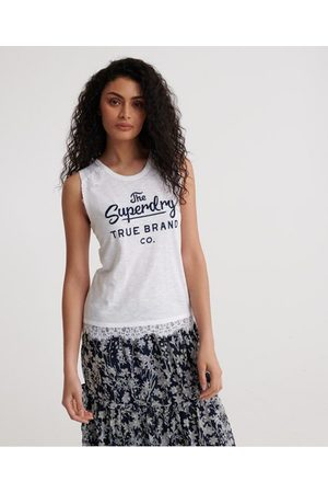 Superdry Dames Tanktops - Jessica Graphic Lace tanktop