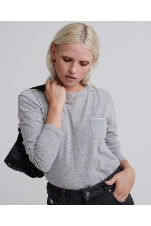 Superdry Dames Lange mouw - Orange Label Essential top met lange mouwen
