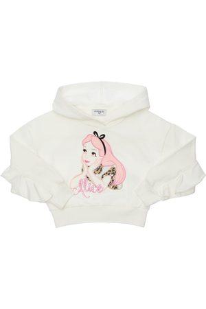 MONNALISA Alice Patch Cotton Sweatshirt