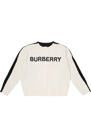 Burberry Jongens Sweaters - Logo embroidered wool-blend sweater